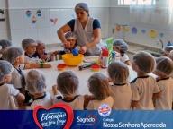 Aulas de culinária - Professora Milena - manhã