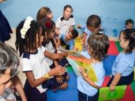 Os alunos do 5º ano levaram doações à Creche e Associação Santos Inocentes