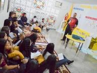 """PASTORAL: ESTUDANTES DO 9° ANO PARTICIPAM DO """"LAVA-MÃOS"""""""