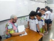 Visita do autor Tino Freitas ao 4º ano
