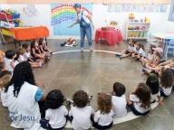 Visita da autora Mirela Martorelli ao Infantil I e II
