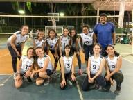 A equipe olímpica de voleibol sub-13 do Colégio Cor Jesu realiza jogo-treino contra a escolinha do Colégio Sigma