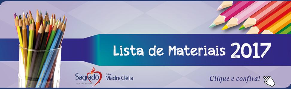 Lista de materiais 2017
