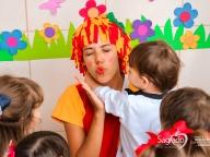 Comemoração do folclore na aula de música (Infantl 1 e 2)