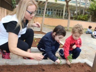 Cultivando Sabores - Plantio de Hortelã (Infantil 2A)
