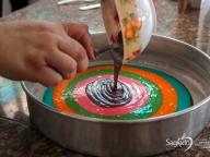 Bolo arco-íris - Infantil 2A