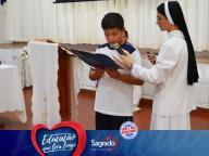 Missa no dia de Madre Clélia com participação dos alunos dos 4°s e 5°s anos