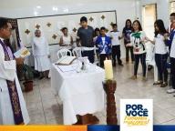 7º ano participa da Missa mensal no colégio
